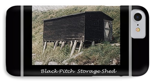 Black Pitch Storage Shed Phone Case by Barbara Griffin