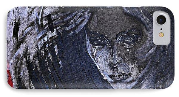 black portrait 16 Juliette Phone Case by Sandro Ramani