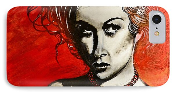IPhone Case featuring the painting Black Portrait 20 by Sandro Ramani