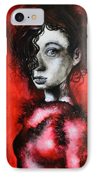 IPhone Case featuring the painting Black Portrait 23 by Sandro Ramani
