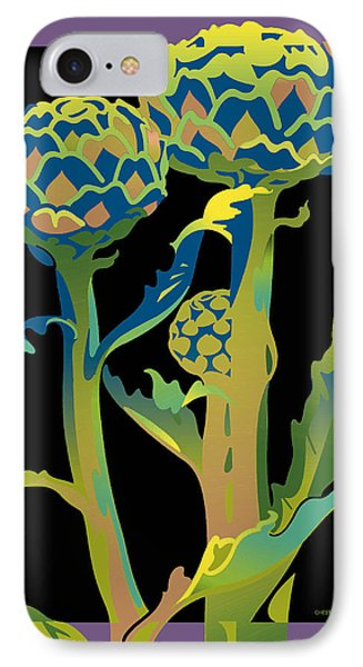 Black-purple Artichoke IPhone Case