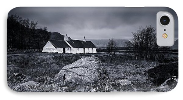 Black Rock Cottage - Glencoe IPhone Case by Stephen Taylor