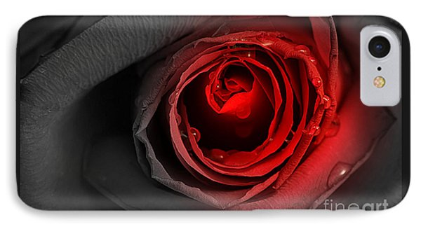 IPhone Case featuring the photograph Black Rose by Adrian LaRoque