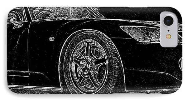 Black S2000 IPhone Case by Eric Liller