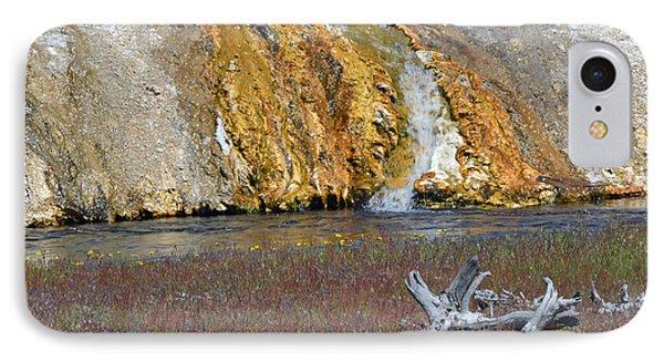 Black Sand Basin Runoff Yellowstone Phone Case by Bruce Gourley