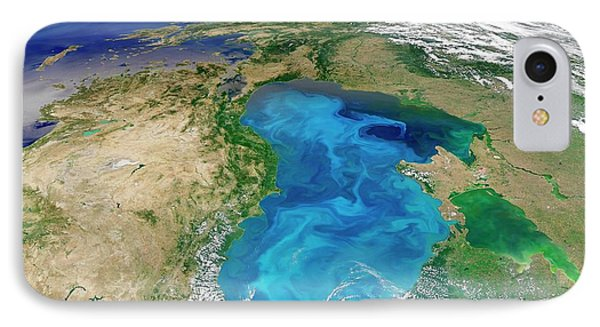 Black Sea Phytoplankton Bloom IPhone Case by Nasa/norman Kuring