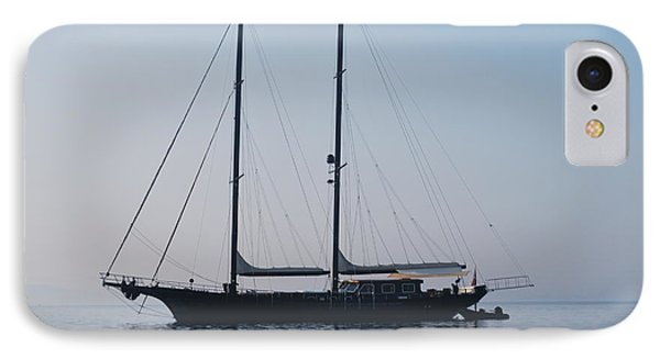 Black Ship 1 IPhone Case by George Katechis