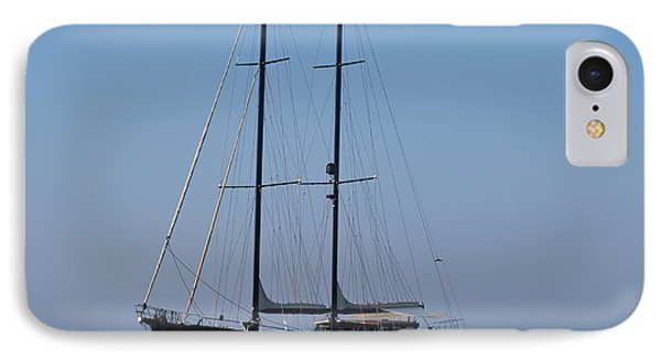 Black Ship IPhone Case by George Katechis
