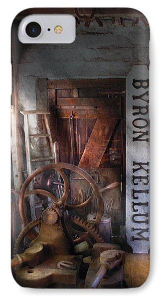 Black Smith - Byron Kellum Blacksmith Phone Case by Mike Savad