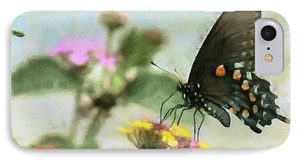 Black Swallowtail Phone Case by Lorri Crossno