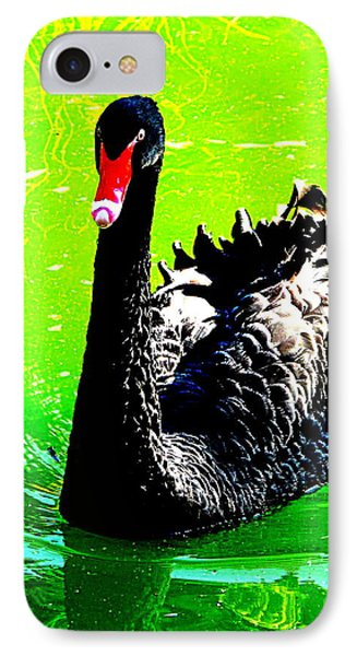 IPhone Case featuring the photograph Black Swan by John King