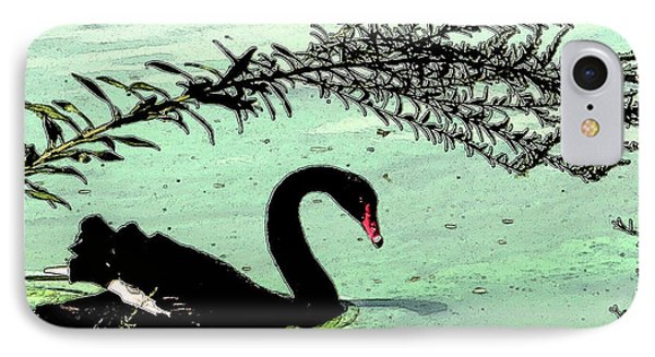 IPhone Case featuring the photograph Black Swan2 by Janet Greer Sammons