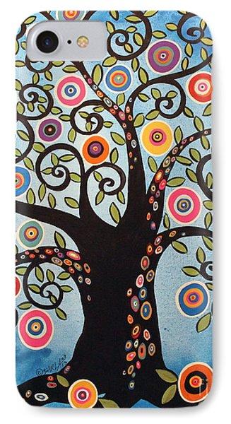 Black Swirl Tree IPhone Case