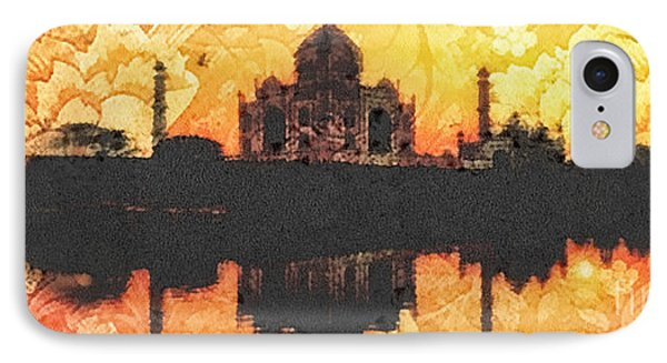 Black Taj Mahal IPhone Case by Mo T