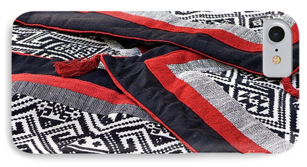Black Thai Fabric 04 Phone Case by Rick Piper Photography