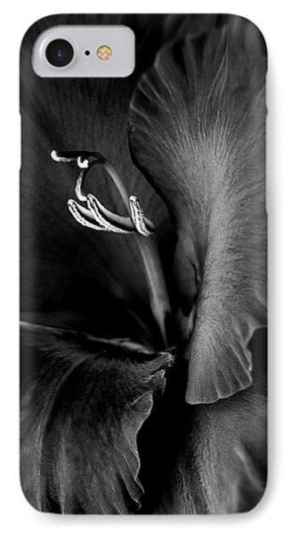 Black Velvet Gladiolia Flower IPhone Case