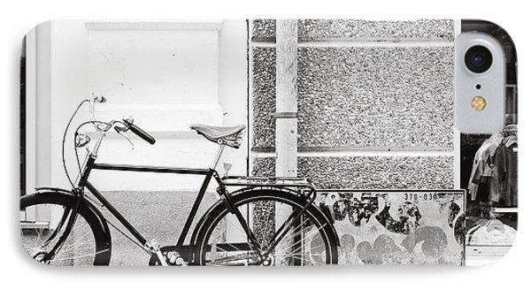 Black Vintage Bicycle Phone Case by Jimmy Karlsson