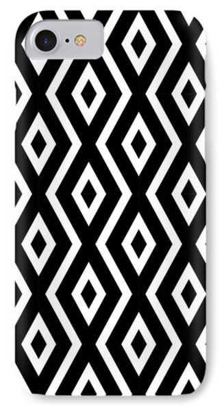 Beach iPhone 7 Case - Black And White Pattern by Christina Rollo