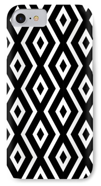 Black And White Pattern IPhone Case by Christina Rollo