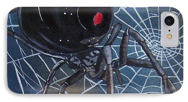 Black Widow Phone Case by Debbie LaFrance