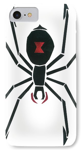 Black Widow IPhone Case by Earl ContehMorgan