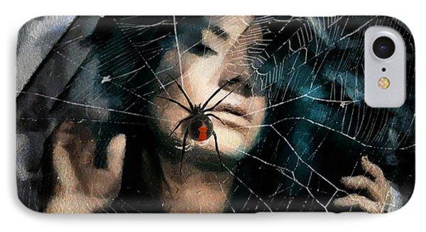 Black Widow Phone Case by Gun Legler