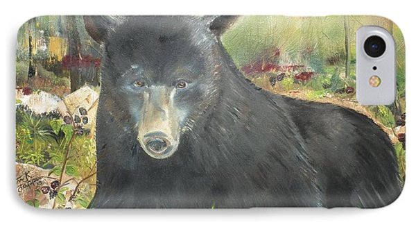 IPhone Case featuring the painting Blackberry Scruffy 2 by Jan Dappen