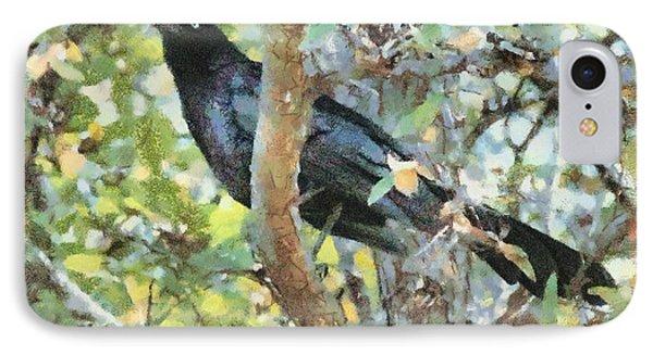 Blackbird Phone Case by Lorri Crossno