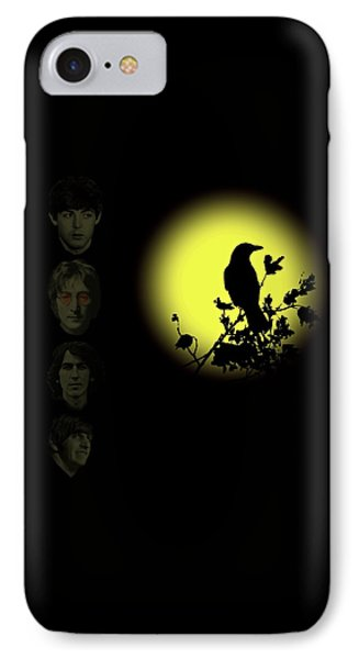 Blackbird Singing In The Dead Of Night IPhone Case by David Dehner