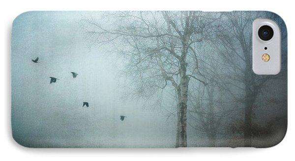 Blackbirds In Fog IPhone Case
