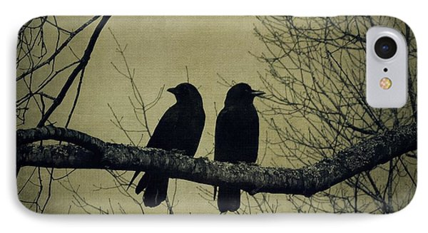Blackbirds On A Branch IPhone Case by Patricia Strand