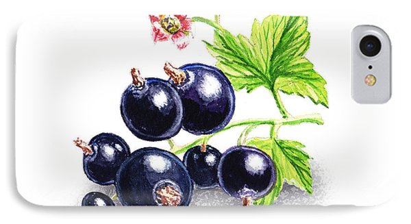 IPhone 7 Case featuring the painting Blackcurrant Still Life by Irina Sztukowski