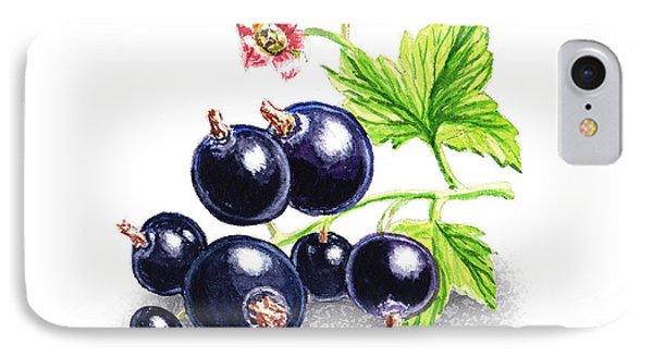 IPhone Case featuring the painting Blackcurrant Still Life by Irina Sztukowski