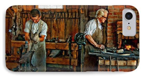 Blacksmith And Apprentice Impasto Phone Case by Steve Harrington