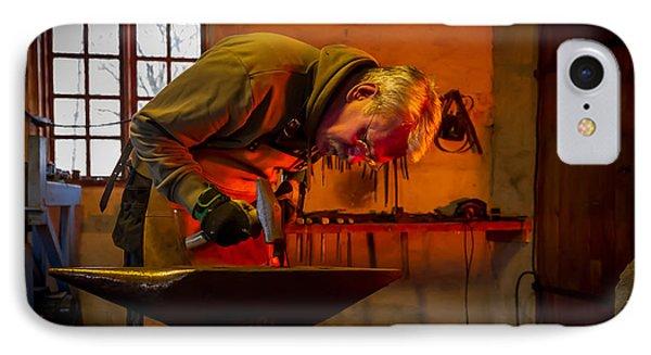 Blacksmith In Torresta IPhone Case by Torbjorn Swenelius
