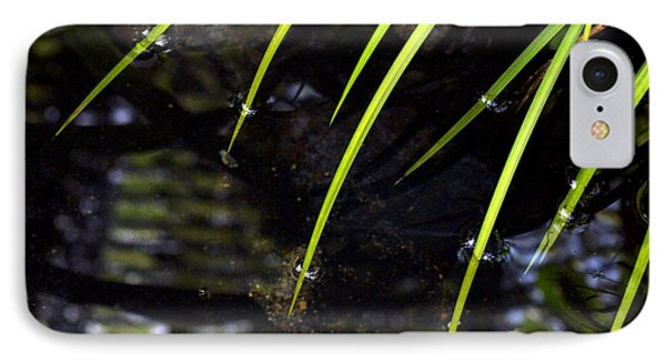IPhone Case featuring the photograph Blades In The Pond by Irma BACKELANT GALLERIES