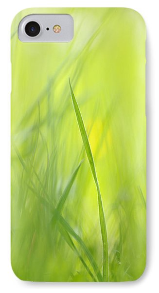 Blades Of Grass - Green Spring Meadow - Abstract Soft Blurred IPhone Case