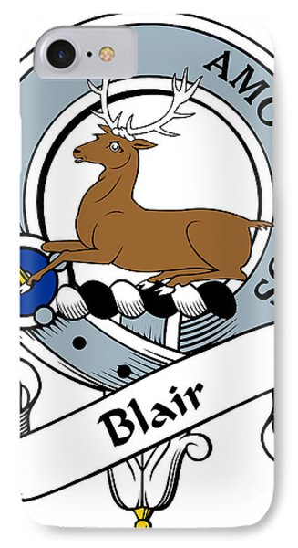 Blair Clan Badge Phone Case by Heraldry