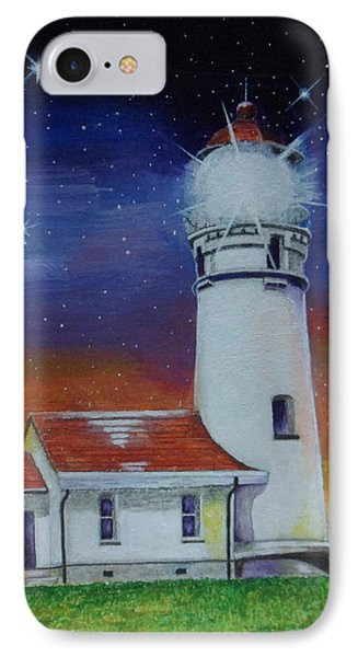 IPhone Case featuring the painting Blanco Lighthouse by Thomas J Herring