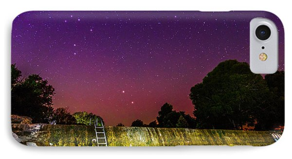 Blanco River Dam At Night - Texas Hill Country Blanco Texas IPhone Case by Silvio Ligutti