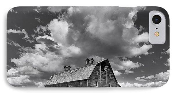 Blasdel Barn - Black And White IPhone Case