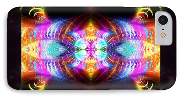 IPhone Case featuring the digital art Blast Of Colors by Hanza Turgul