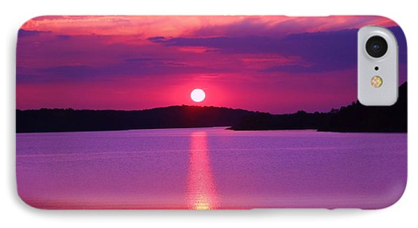 IPhone Case featuring the digital art Blazing Sunset by Lorna Rogers Photography