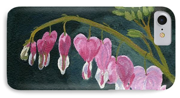 IPhone Case featuring the painting Bleeding Heart by Lynne Reichhart