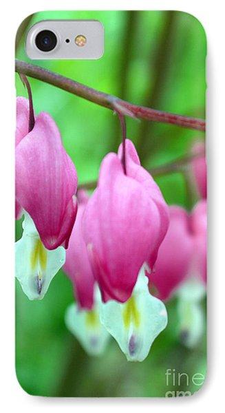 Bleeding Hearts Flowers Phone Case by Edward Fielding