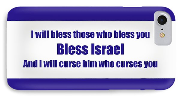 Bless Israel Poster IPhone Case