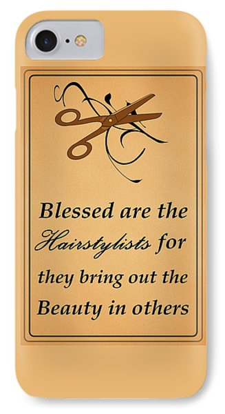 Blessed Are The Hairstylists  IPhone Case by Movie Poster Prints