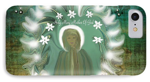 Blessed Mother If She Came To Earth Today IPhone Case by Sherri's Of Palm Springs