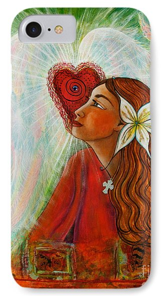 IPhone Case featuring the painting Blessed Visit  by Deborha Kerr