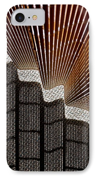 Blind Shadows Abstract I IPhone Case by Kirsten Giving